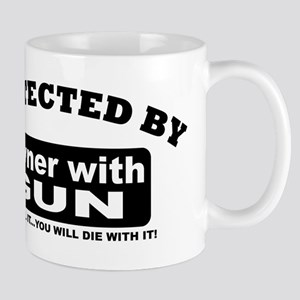 property of protected by gun owner b Mug